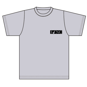 """中村千尋""""I♥NC Tシャツ""""(グレー)"""