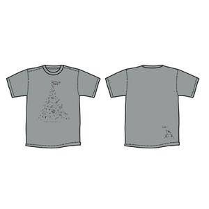 ◯△⬜︎ Tシャツ [ グレー ]