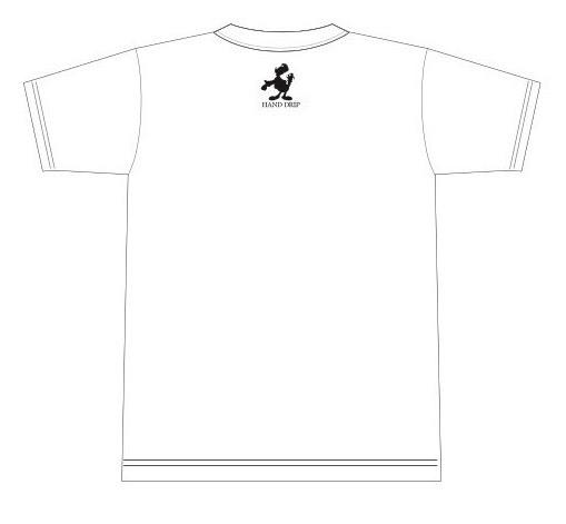 「HAND DRIP」Tシャツ2[ホワイト]