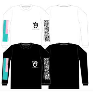 OverTone ロングスリーブTシャツ(black・white)