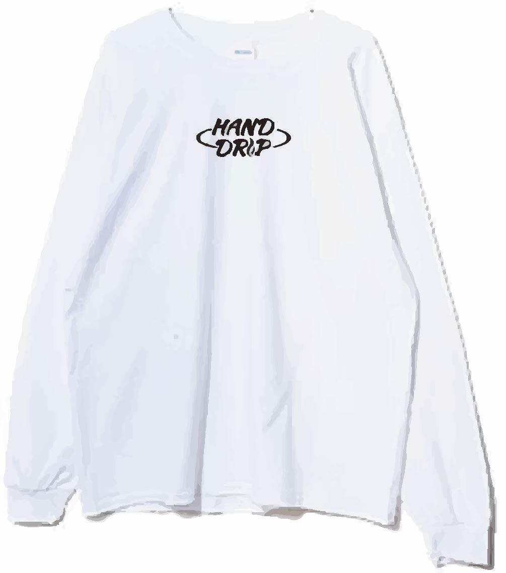 「HAND DRIP」ロングスリーブT-shirt (White)
