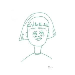 mahina イラスト『つやつや』