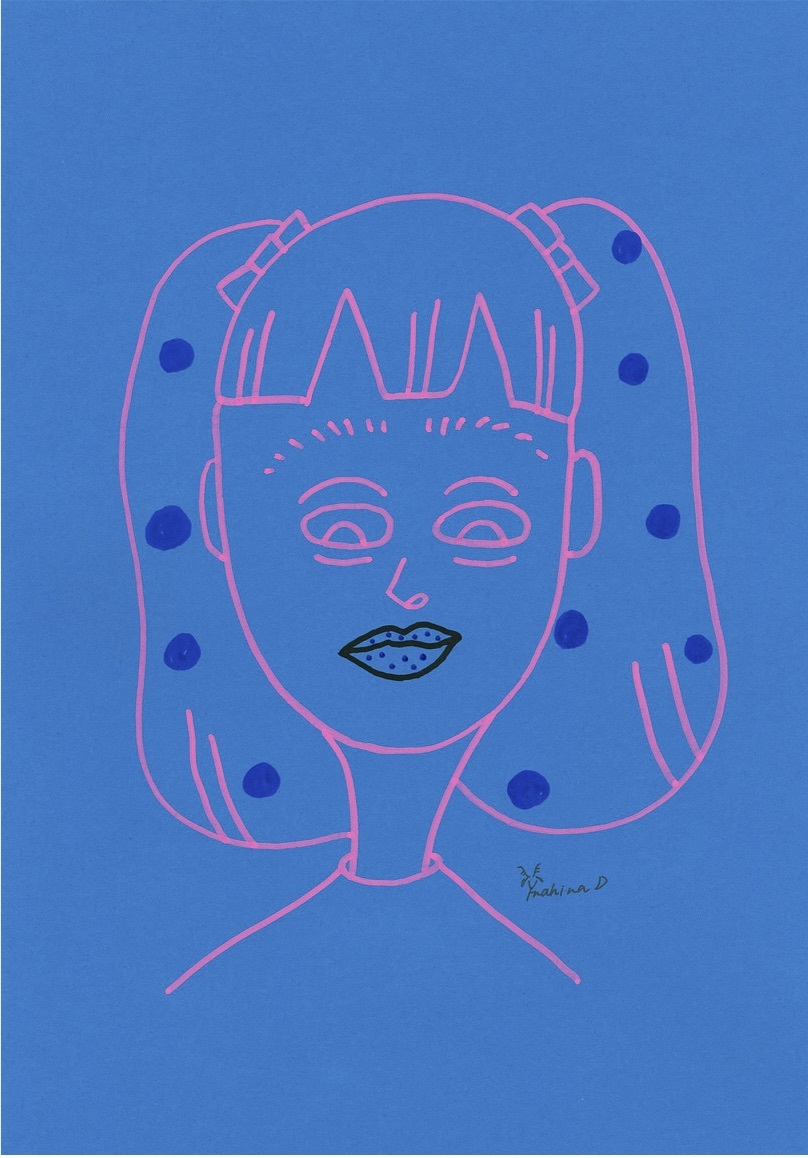 mahina イラスト『Blue_ドット』