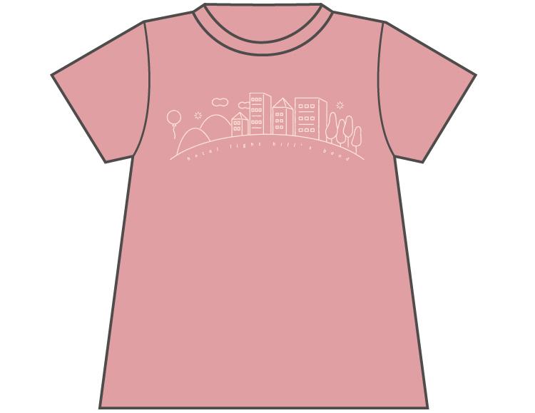 ホタルヒルズTシャツ(PASTEL PINK)