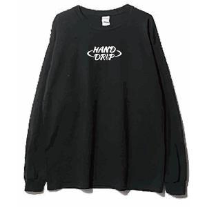 「HAND DRIP」ロングスリーブT-shirt (Black)
