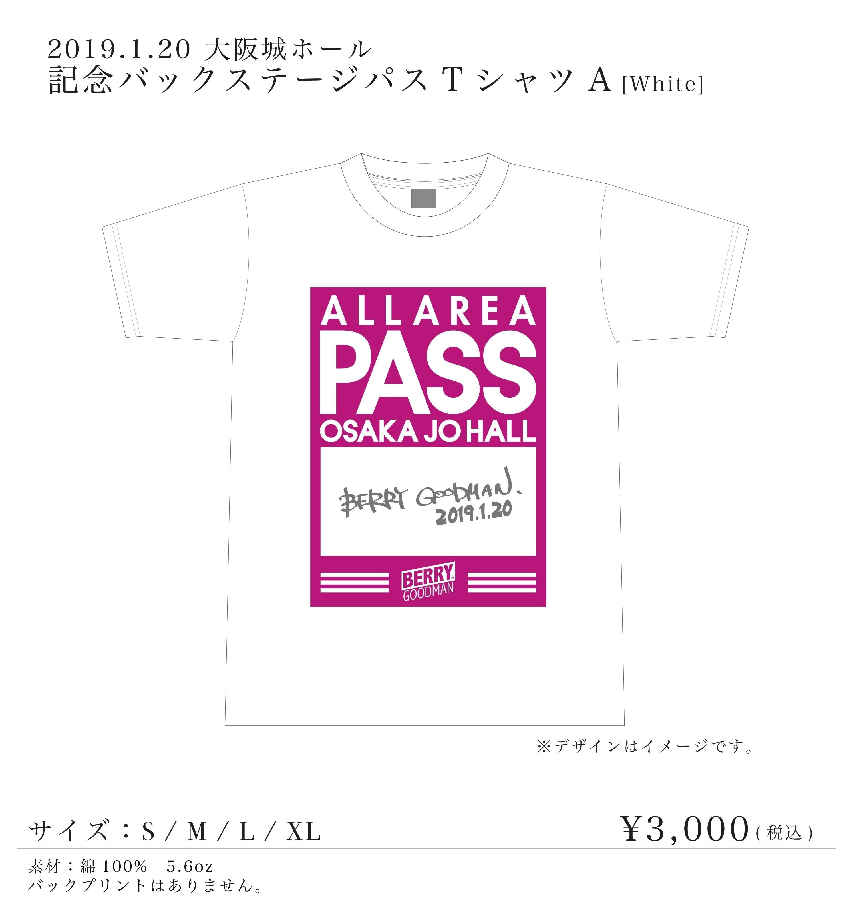 大阪城ホールTシャツA (ホワイト)