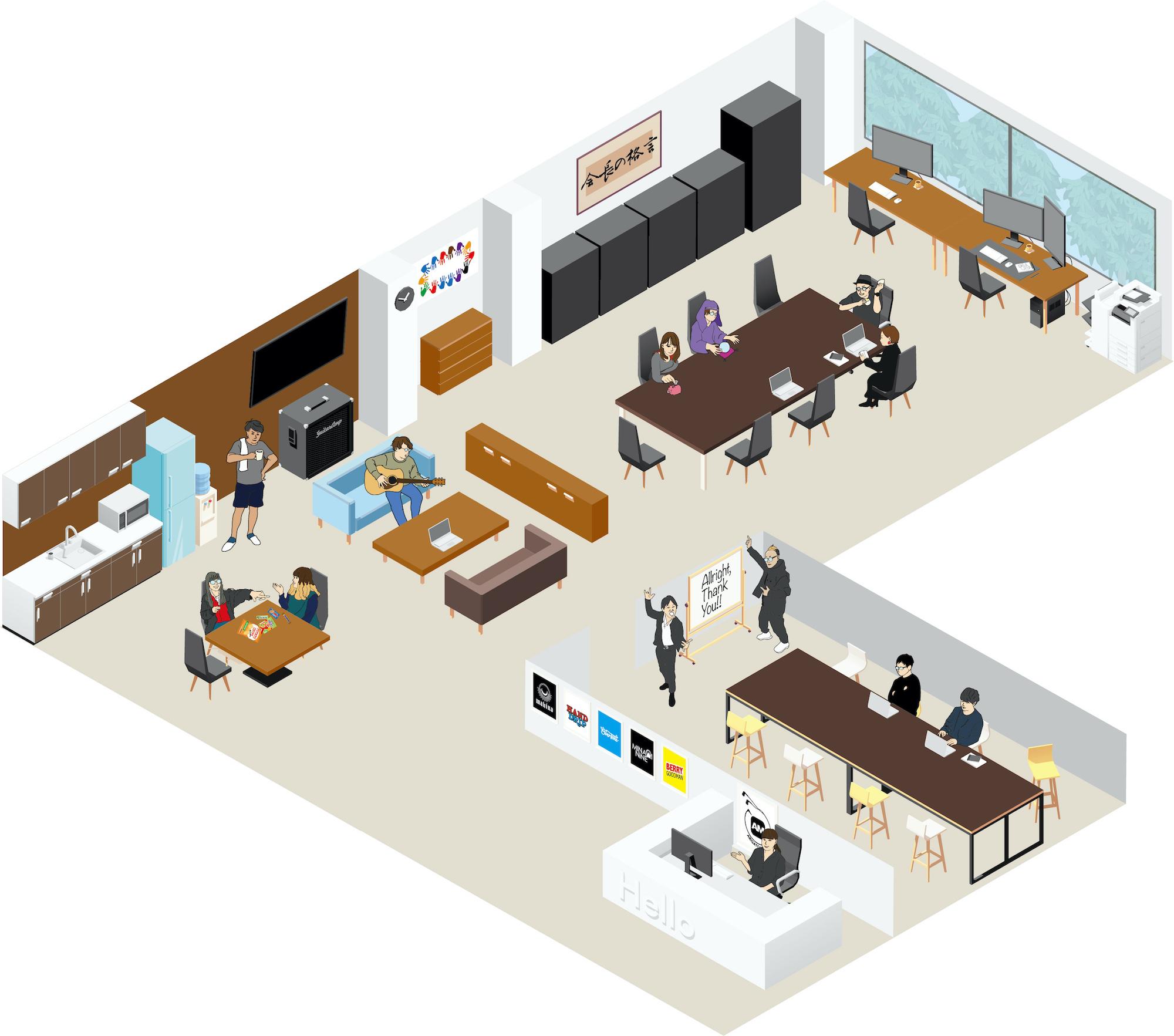 【ILLUST】ARIGATO MUSIC office