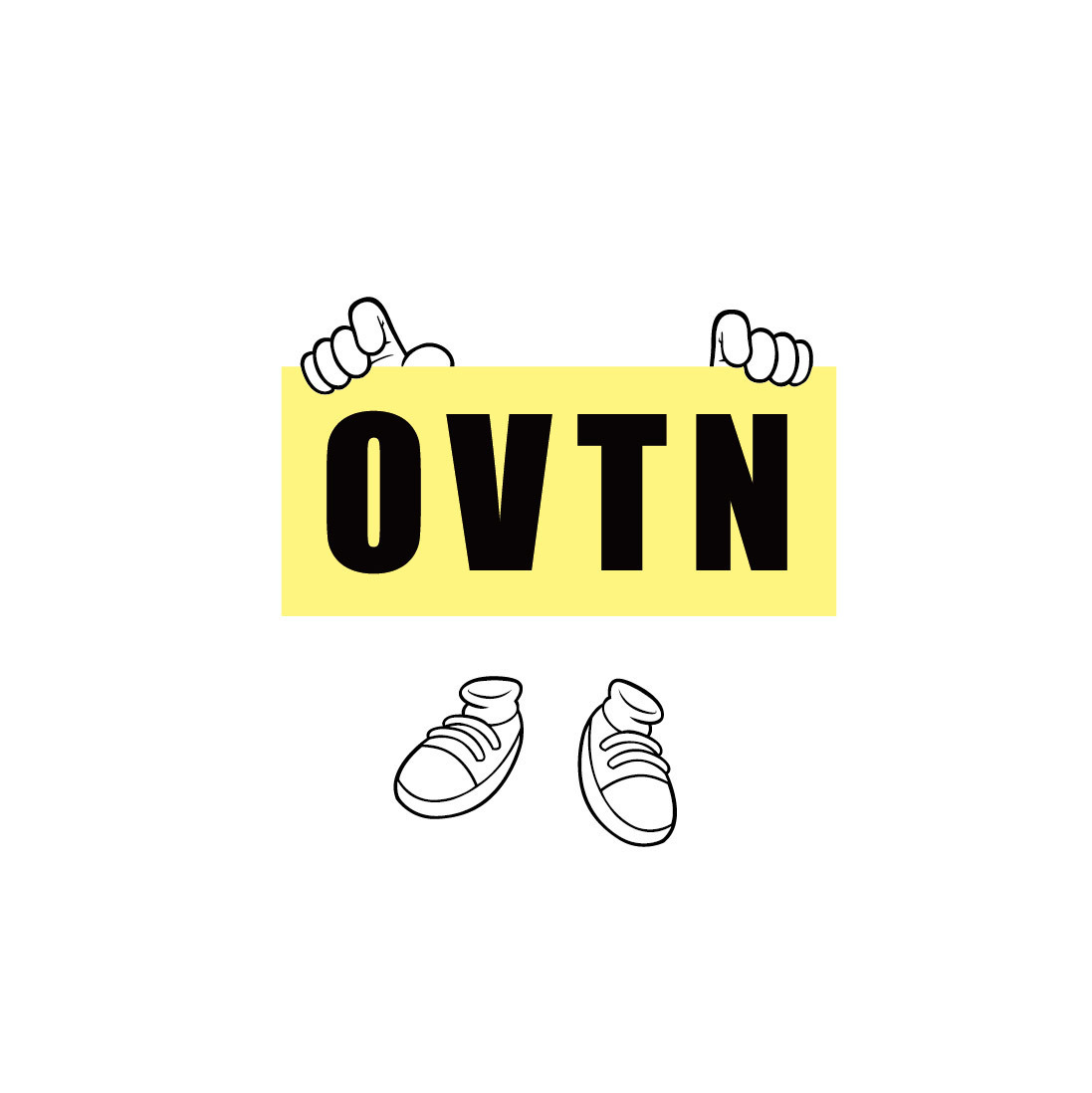 OVTN CARTOON TEE!!【ボディ/white】
